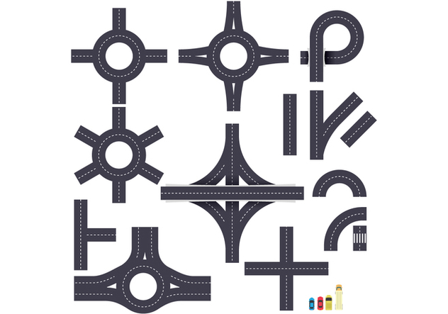 632x443 Free Roundabout And Junction Road Vector Free Vector Download