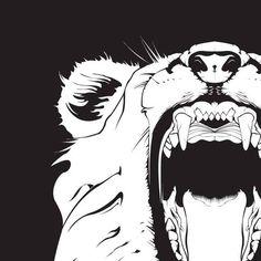 Roaring Lion Vector