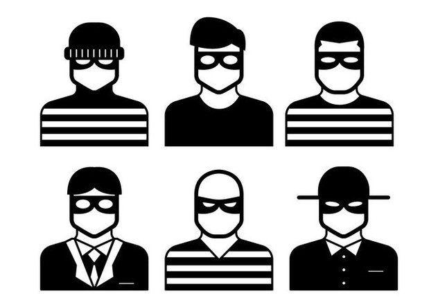 632x443 Robber Vector Free Vector Download 347539 Cannypic
