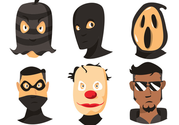 352x247 Robber Vector Set Free Vector Download 355179 Cannypic