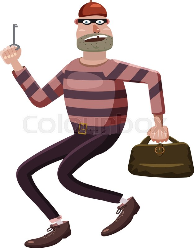 626x800 Robber Icon. Cartoon Illustration Of Robber Vector Icon For Web