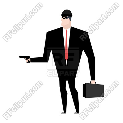 400x400 Businessman Robber. Business Robbery. Vector Image Vector