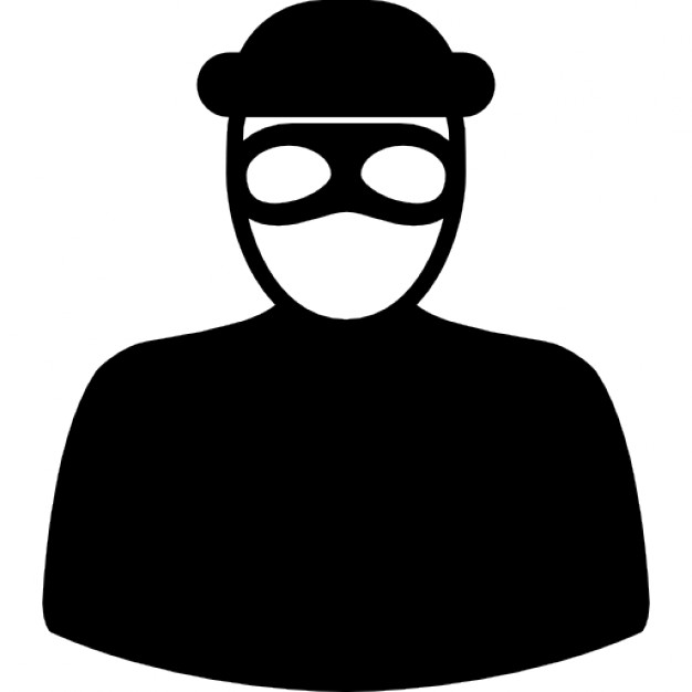 626x626 Unrecognizable Robber With Eyes Mask Icons Free Download
