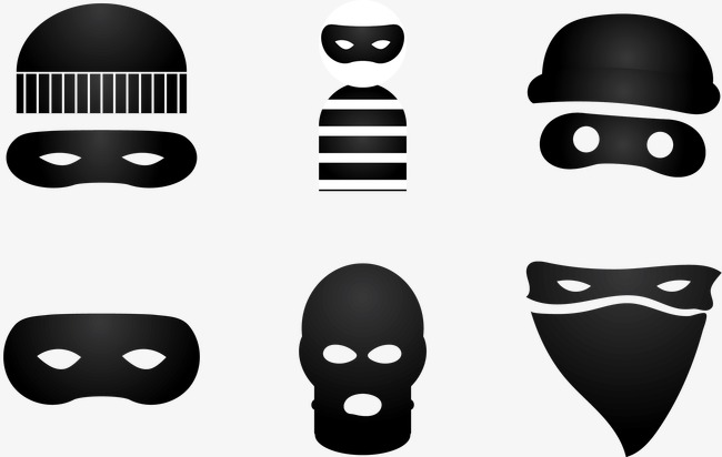 650x412 Vector Decorative Illustration Robber, Decorative Robber, Robber