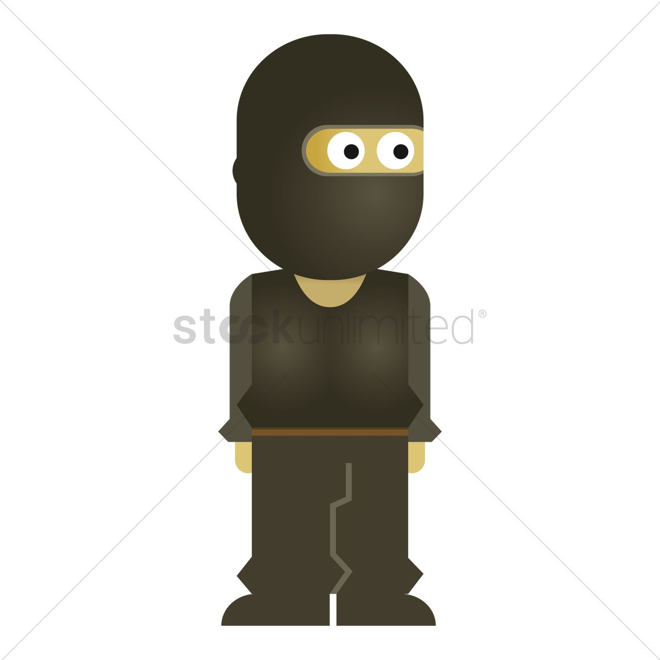 1300x1300 Free Robber Vector Image