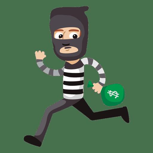 512x512 Funny Robber Profession Cartoon