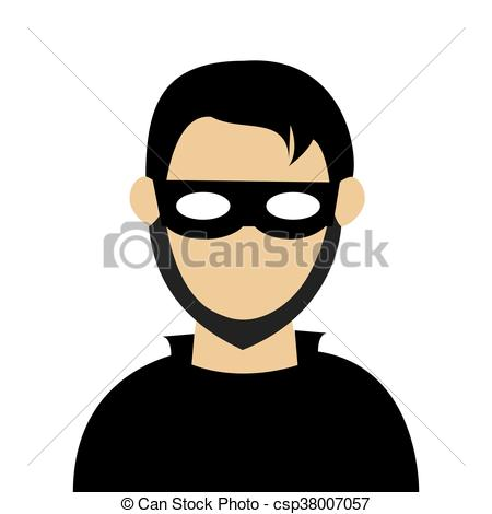 450x470 Man With Mask Robber. Man With Black Shirt Wearing Black Mask