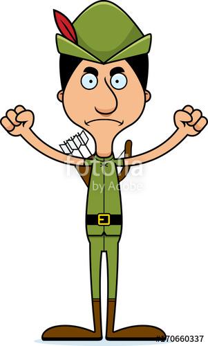 301x500 Cartoon Angry Robin Hood Man Stock Image And Royalty Free Vector