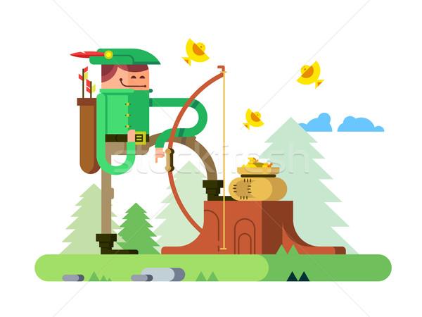 600x450 Character Of Robin Hood Vector Illustration Jossdiim ( 7260605