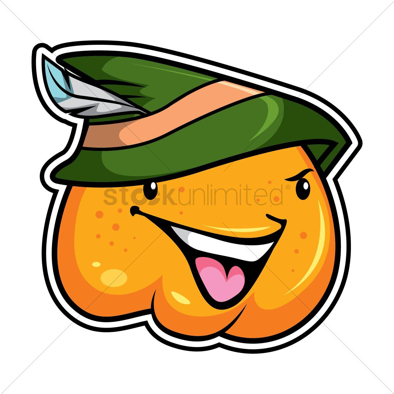 1300x1300 Pumpkin As Robin Hood Vector Image