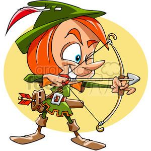 300x300 Royalty Free Cartoon Robin Hood 391473 Vector Clip Art Image