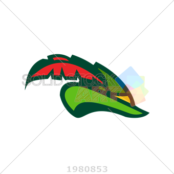 340x340 Stock Illustration Of Vector Green Robin Hood Hat With Red Feather