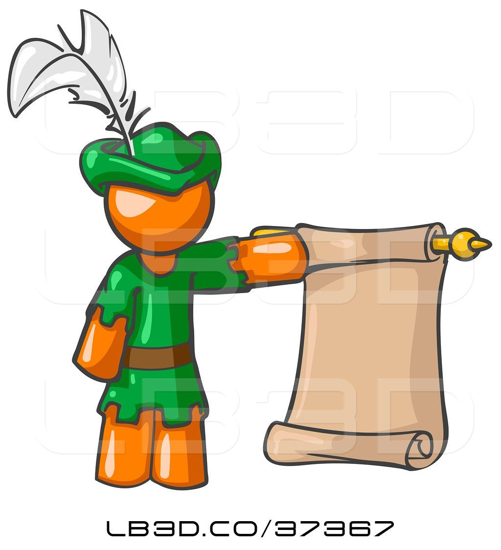 1024x1124 Vector Illustration Of Orange Guy Dressed As Robin Hood With A