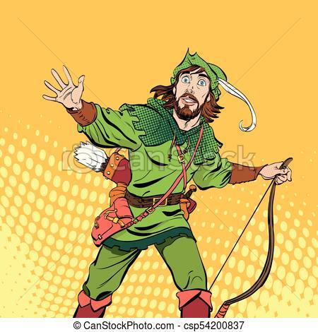 450x470 Amazed Robin Hood. Wondering Robin Hood. Medieval Legends. Heroes