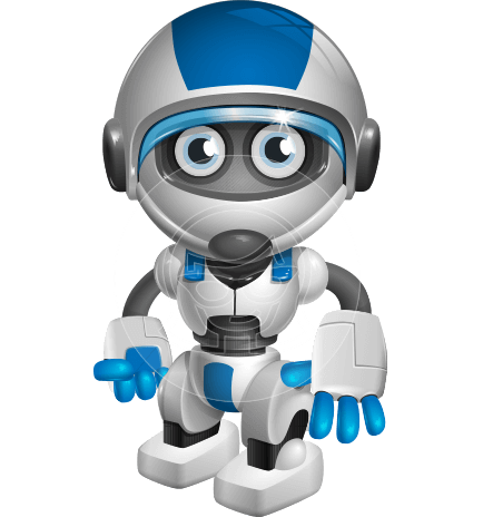 434x464 Robot Vector Cartoon Characters Ultimate Packs By Graphicmama
