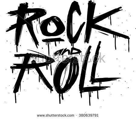 450x394 Hand Draw Sketch Rock And Roll Illustration. Rock And Roll Tattoo