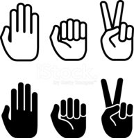 193x199 Rock, Paper, Scissors Black And White Royalty Free Vector Icon S