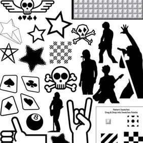 282x282 Punk Rock Vector Pack Free Vector Download 223667 Cannypic