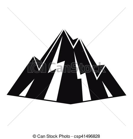 450x470 Rock Icon, Simple Style. Rock Icon. Simple Illustration Of Rock
