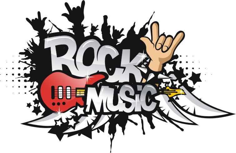 755x491 Old Rock Music Clipart Free Rock Music Vector Corel Draw