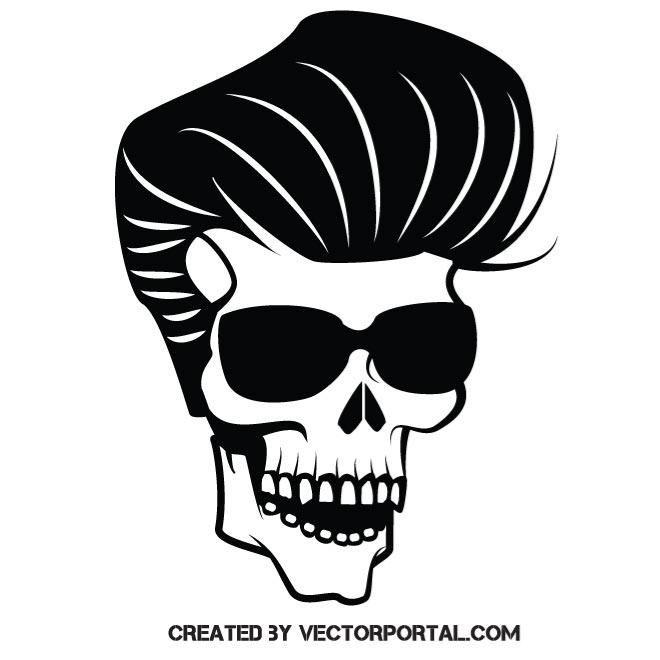 660x660 Free Skull Vector Rock Star Skull Vector Image Skull Vectors