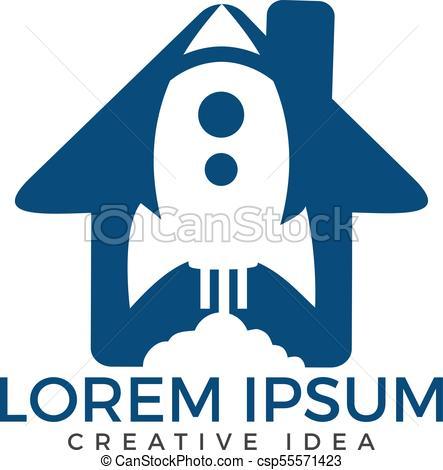443x470 Rocket House Logo,rocket Logo Vector Logo Template. Rocket Launch