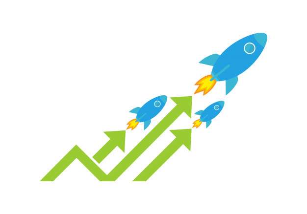 626x438 Competition Marketing Rocket Logo Vector Premium Download