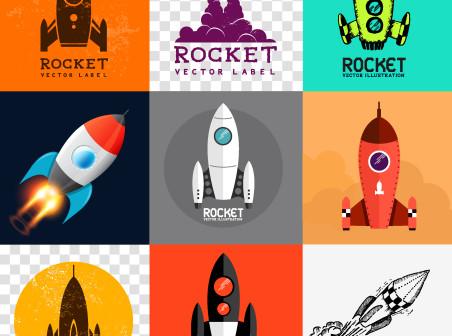 452x336 9 Rocket Vector Icons Free 9 Rocket Vector Icons