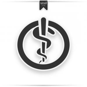 300x300 Photostock Vector Rod Of Asclepius Medical Snake Vector Icon