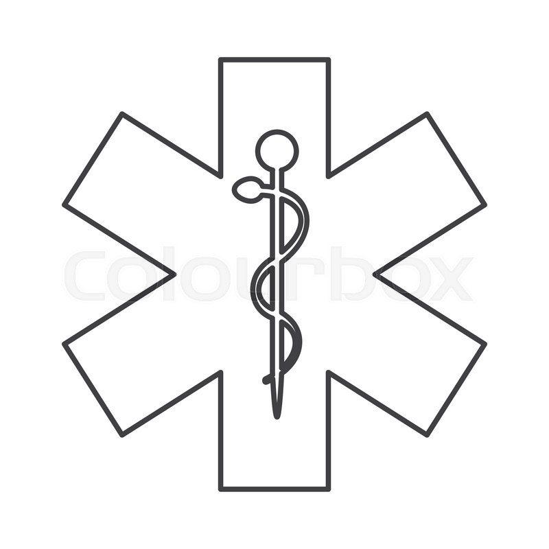 800x800 Flat Design Rod Of Asclepius Icon Vector Illustration Stock