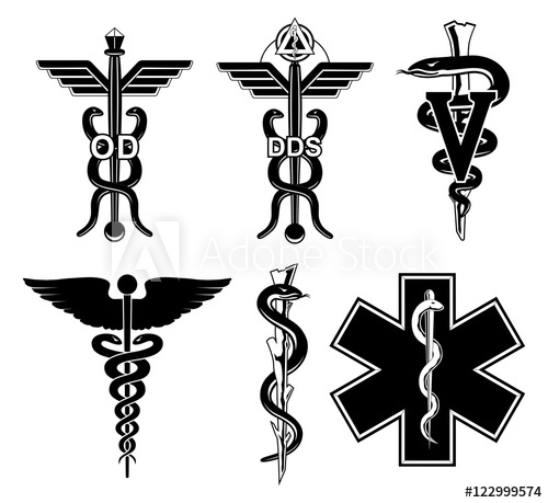 500x459 Medical Symbols Graphic Is An Illustration Of Six Medical Symbols