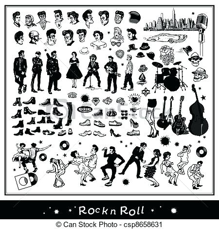 450x470 Rock And Roll Clip Art Free Rock N Roll Vector 50s Rock And Roll