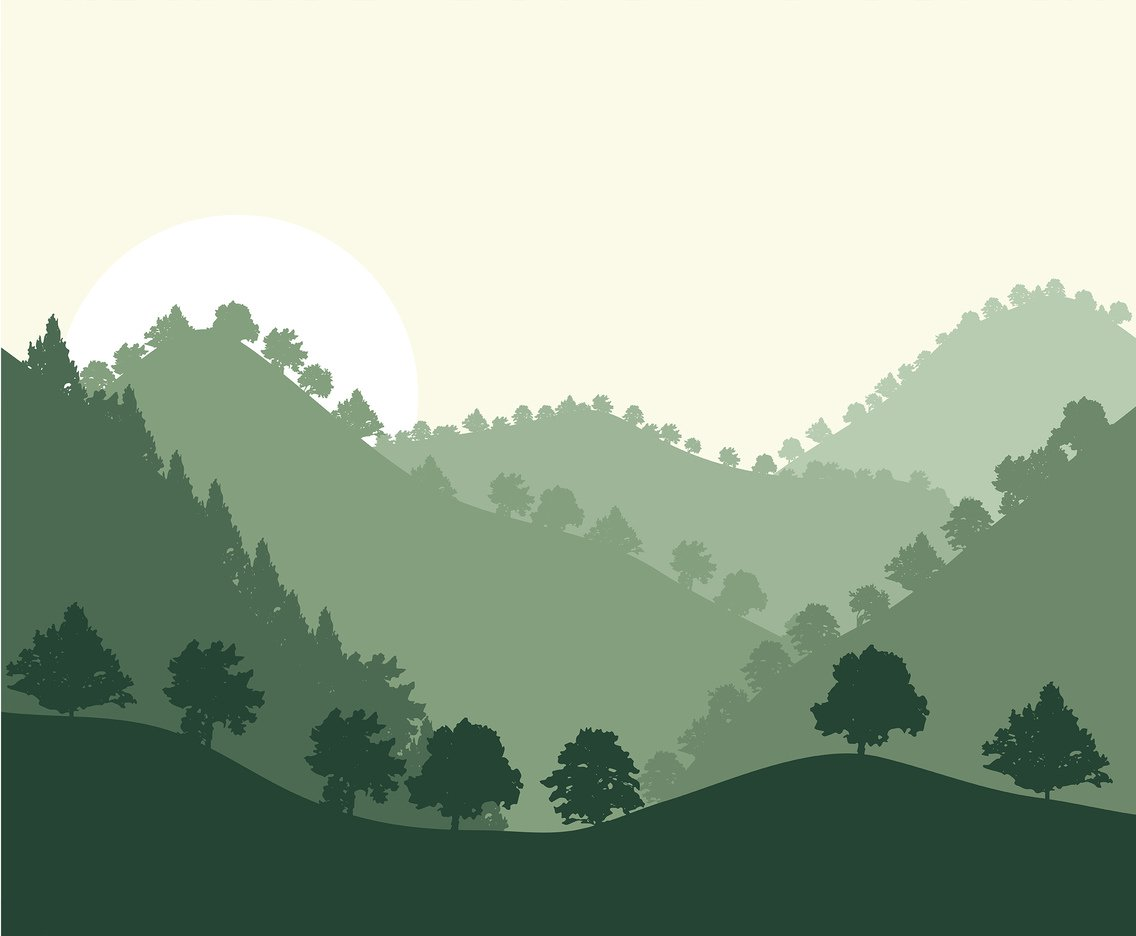 1136x936 Rolling Hills Forest Background Vector Vector Art Amp Graphics