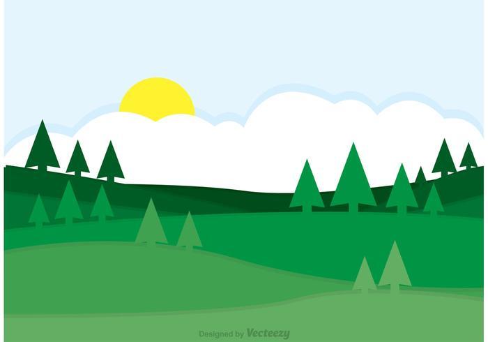 700x490 Green Rolling Hills Landscape Vector