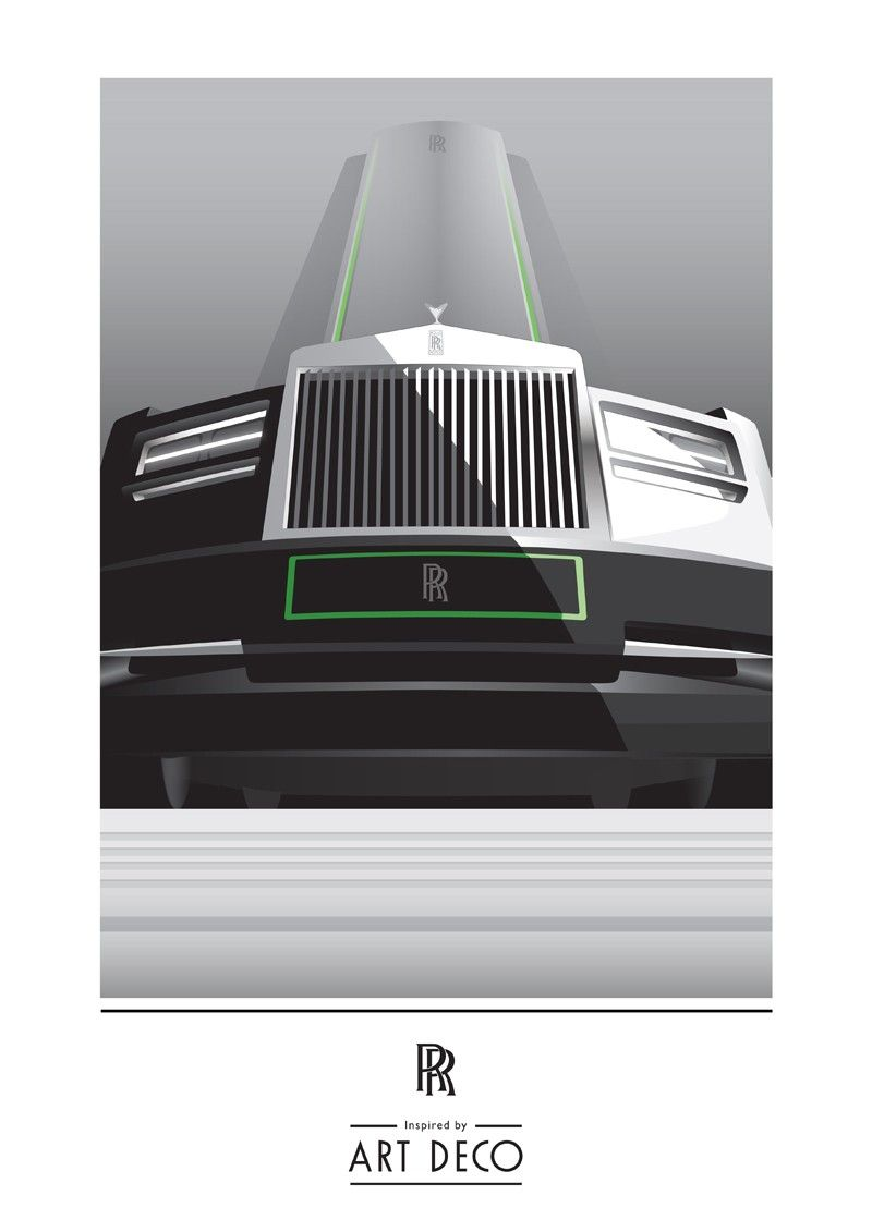 800x1131 Rolls Royce Art Deco Poster Vector Art Deco