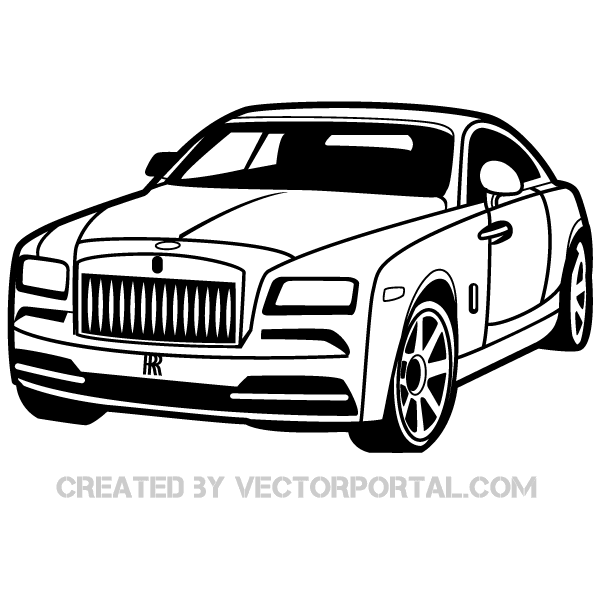 600x600 Rolls Royce Car Vector Image 123freevectors