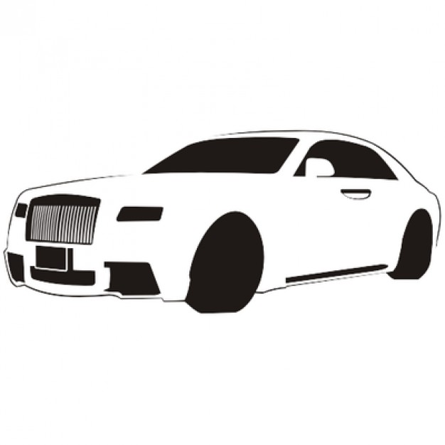 626x626 Luxury Car Sketch Rolls Royce Vector Free Download