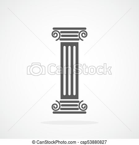 450x470 Antique Column. Vector Illustration. Antique Column In Flat Design