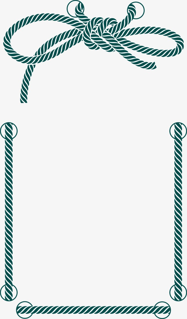 650x1109 Decorative Rope Border, Rope, Frame, Decoration Png And Vector For