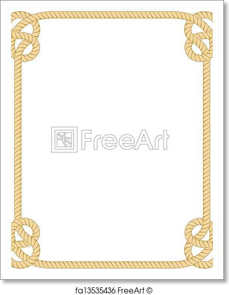 450x580 Free Art Print Of Rope Border. Vector Rope Border Isolated On