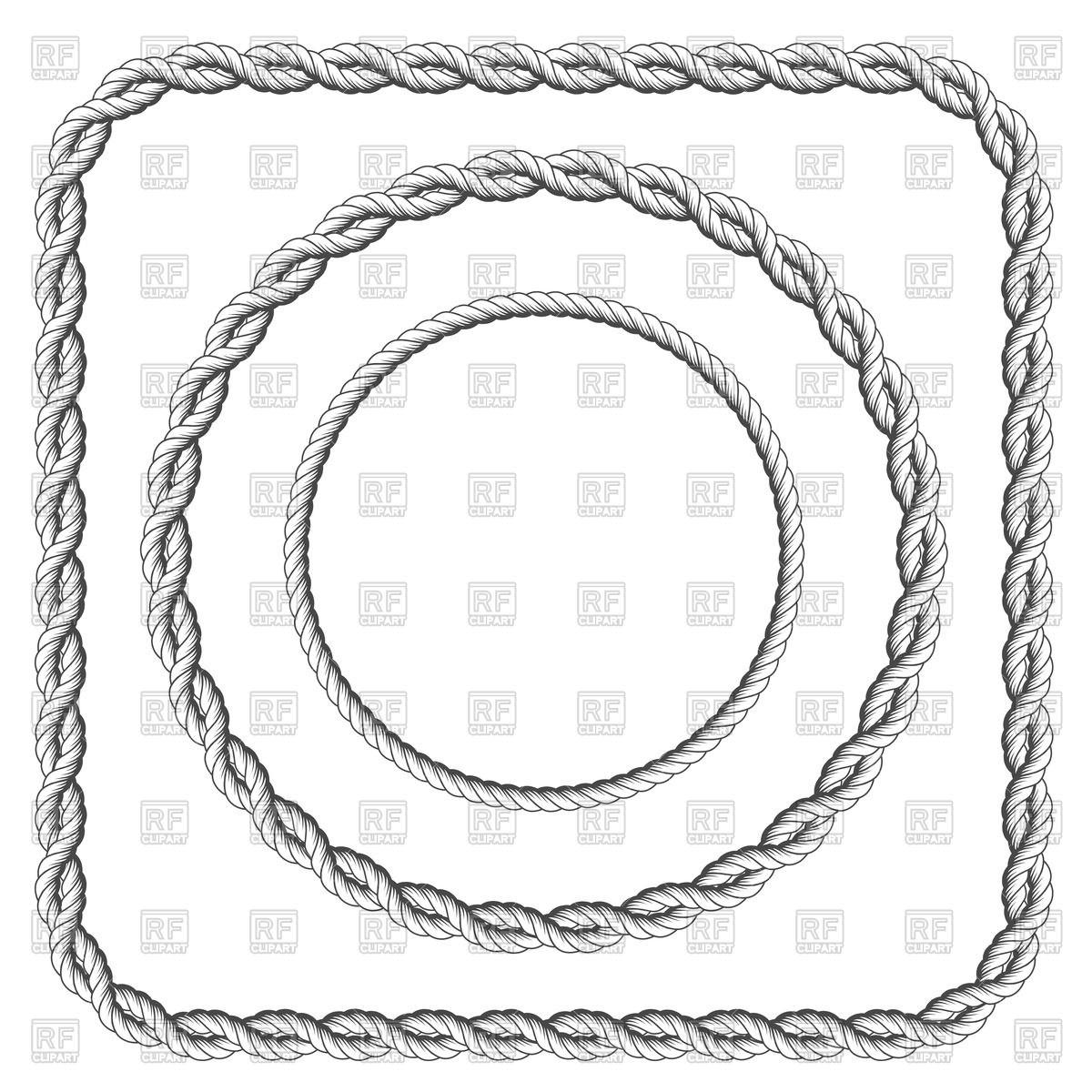 1200x1200 Navy Rope Circle Vector