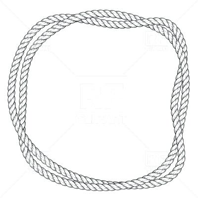 400x400 Rope Frame Rope Frame Rope Circle Border Vector Free It