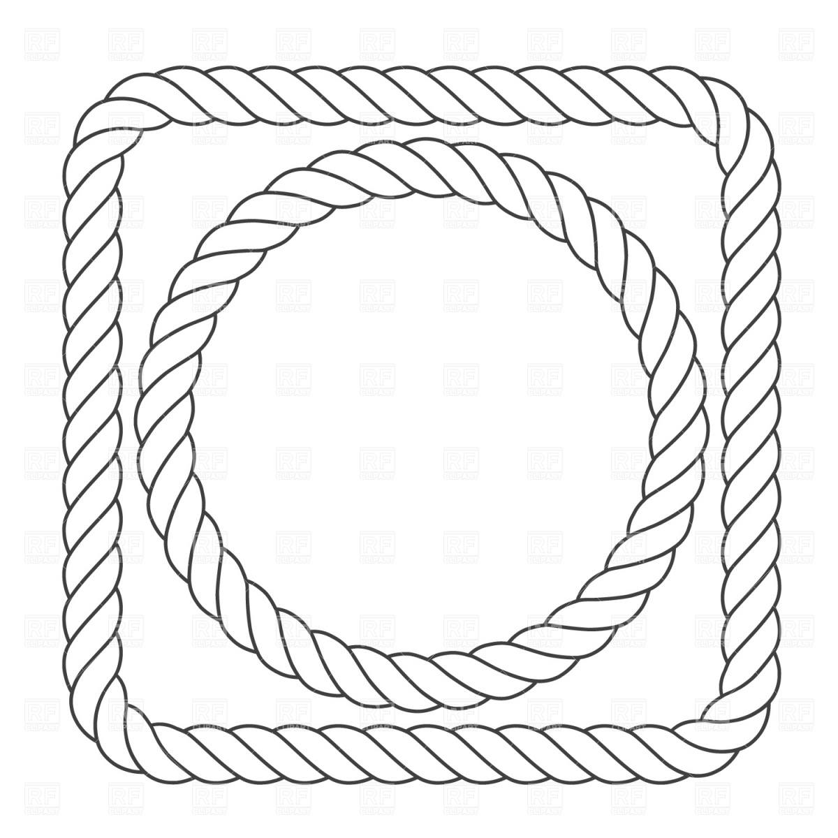 1200x1200 Rope Border Vector Image Vector Artwork Of Borders And Frames