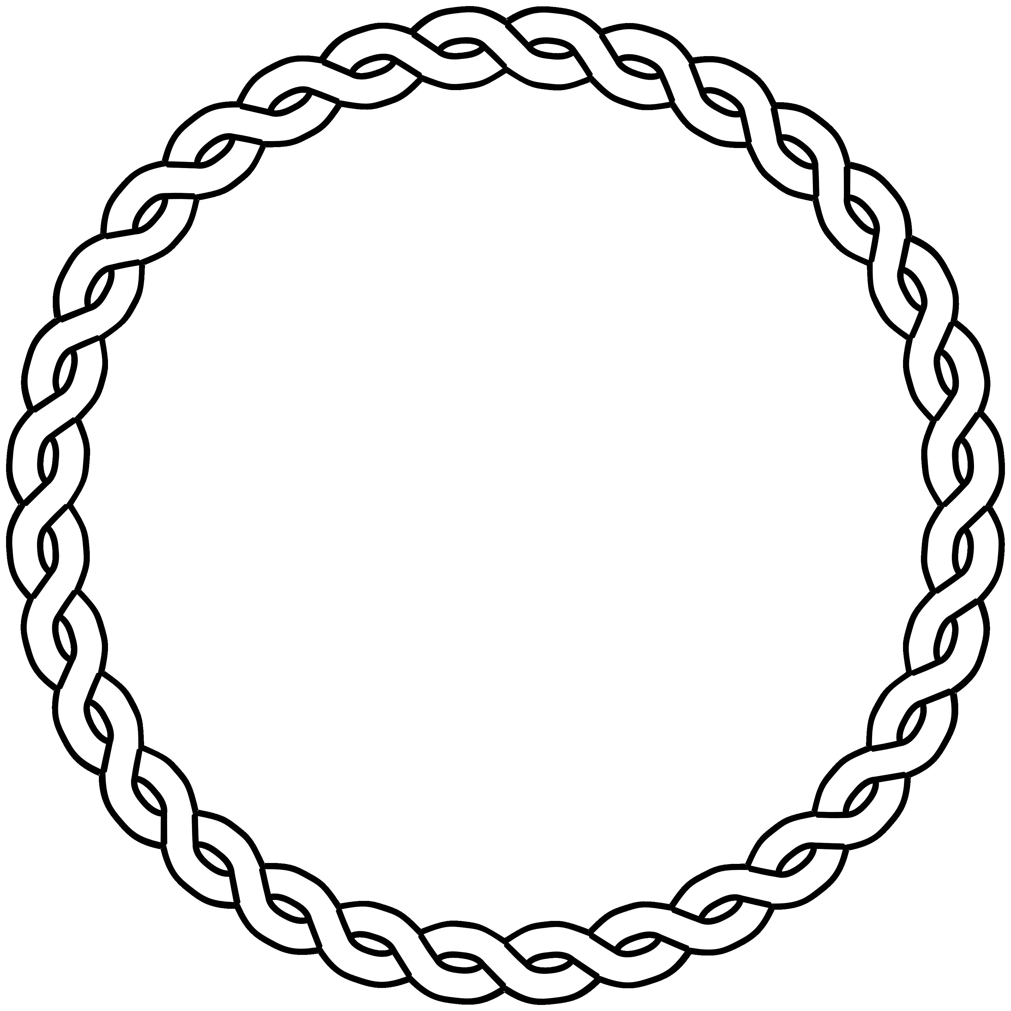 3333x3333 Vector Rope Circle Illustrator