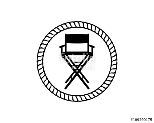 500x400 The Director Chair With Classic Circle Like Rope Illustration