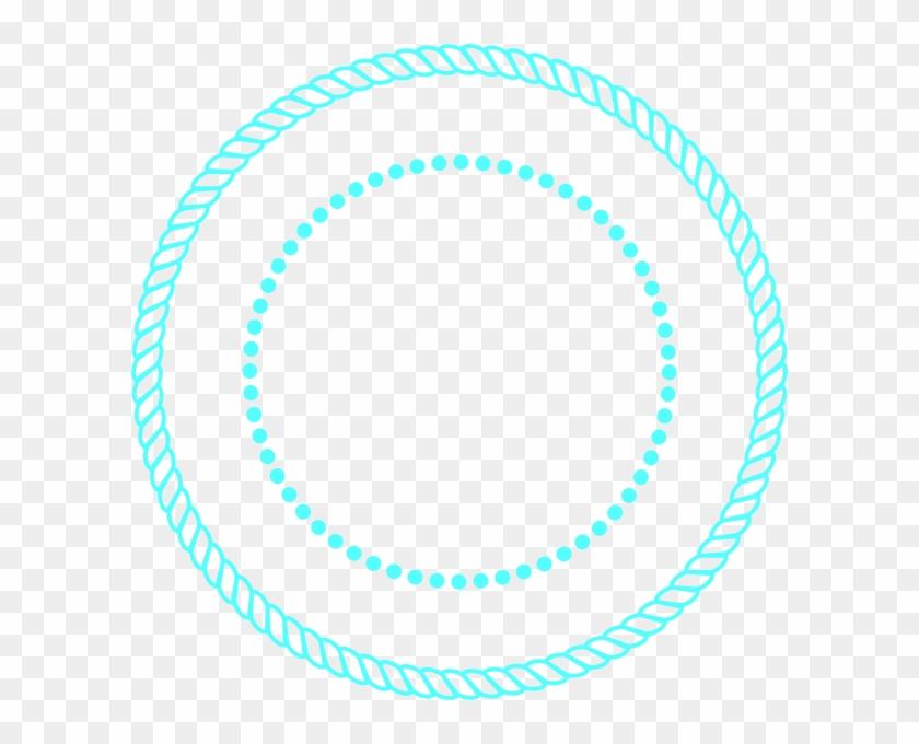 840x680 Blue Rope Circle Frame Clip Art