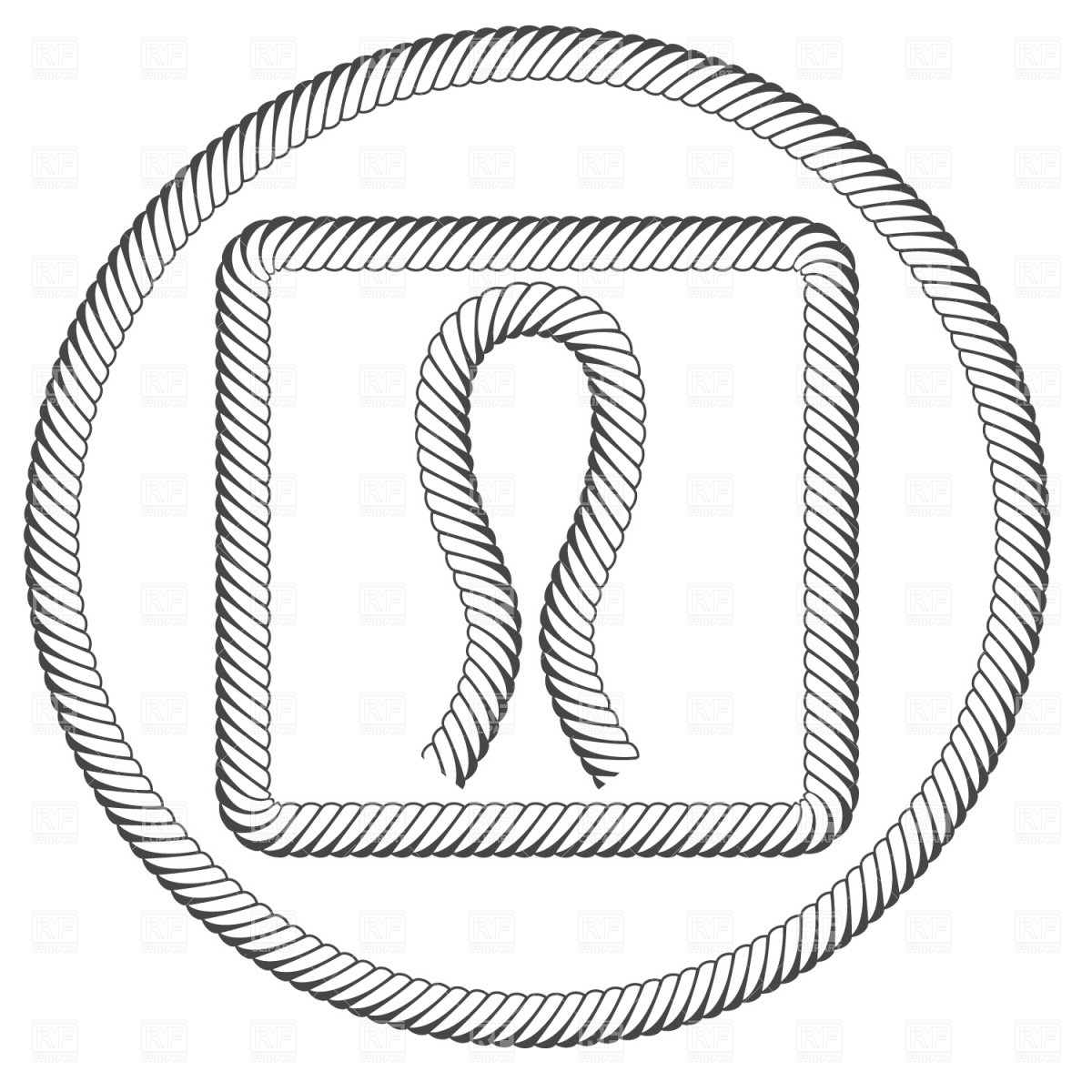 1200x1200 Drawn Rope Circle Vector 5