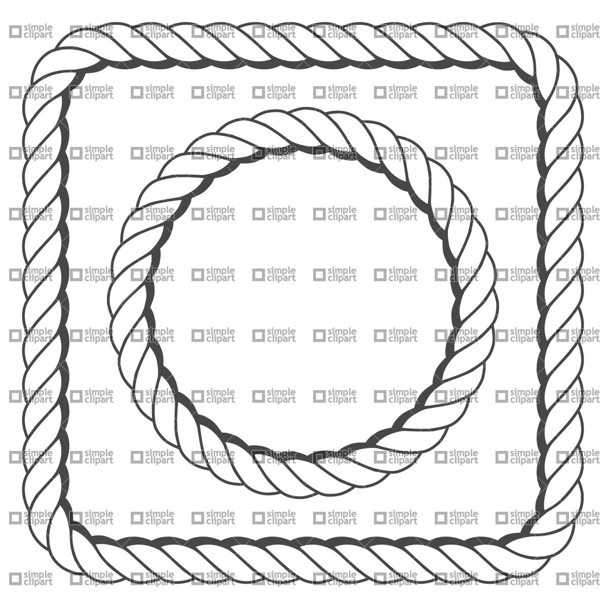 1200x1200 Rope Frame Vector Image