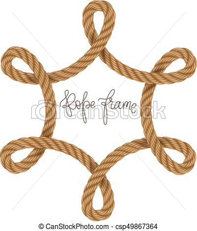401x470 Rope Vector Frame, May Use For Invitation In You Designs Marine Style.