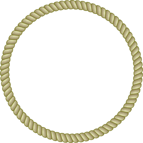 500x500 Round Rope Frame Vector Image Public Domain Vectors